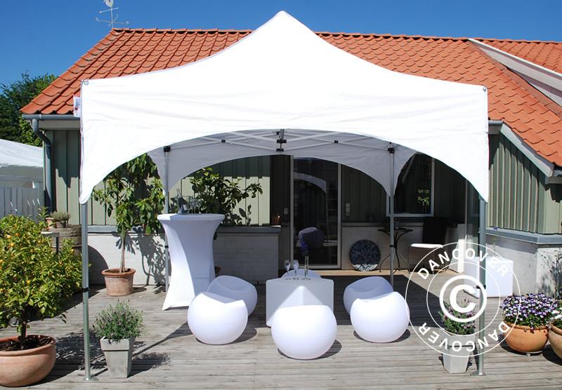 Faltzelt FleXtents mit einem exklusiven gebogenen Dachdesign