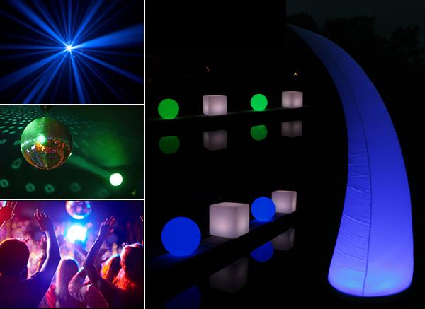 Beleuchtungen auf Events erzeugen Magie