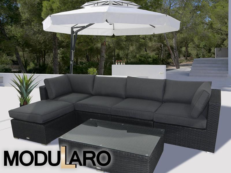 Polyrattan-Gartenmöbel im einzigartigen modularen Konzept